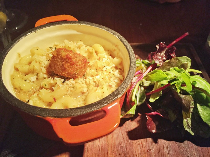 Lamb and mint macaroni cheese at the Stag at Offchurch