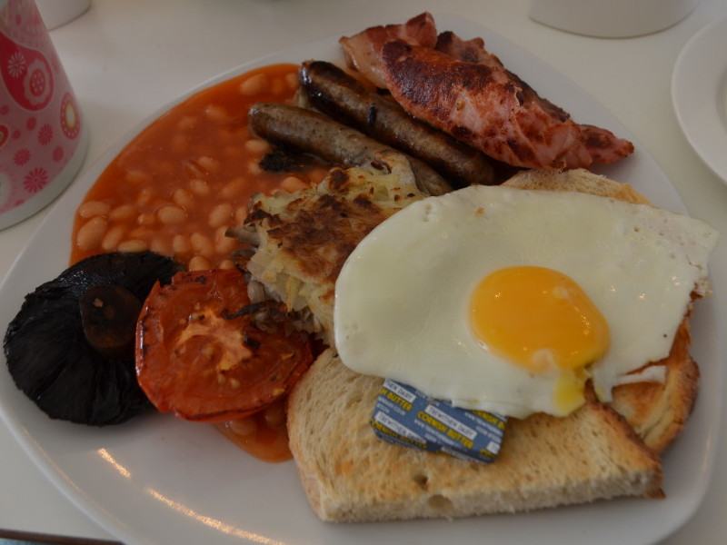 Cornish breakfast at Cherry Trees, Padstow