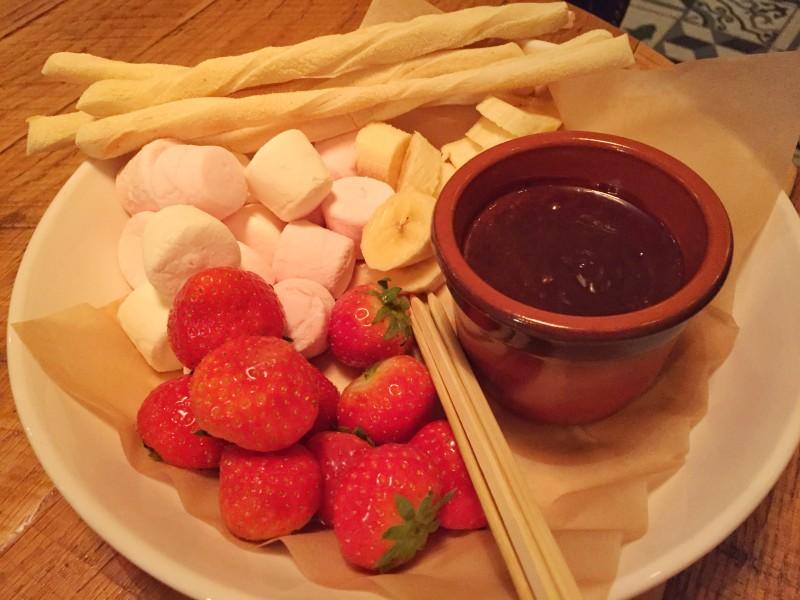 Fondue dessert at Revolution