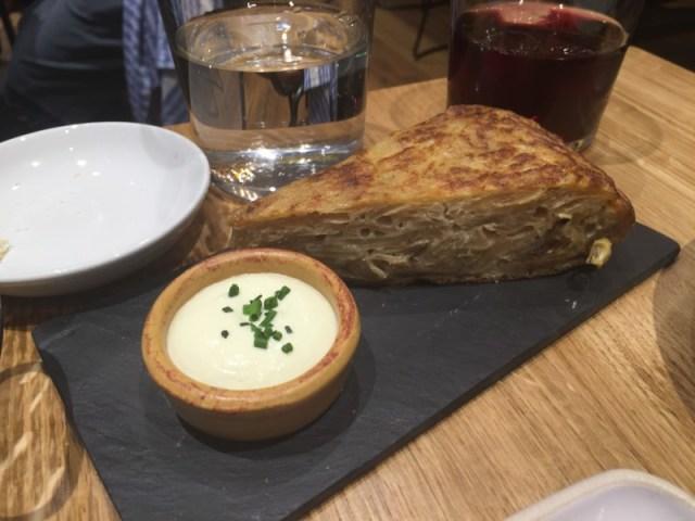 Tortilla at Tapas Revolution