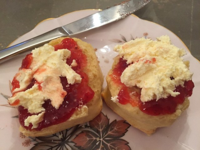 Scone, jam & cream at Nook on the Square