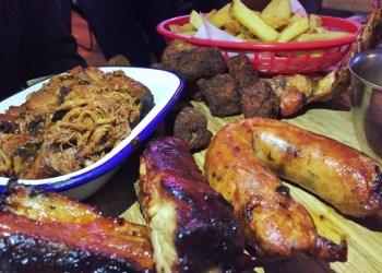 Meat platter at Smoke Stop