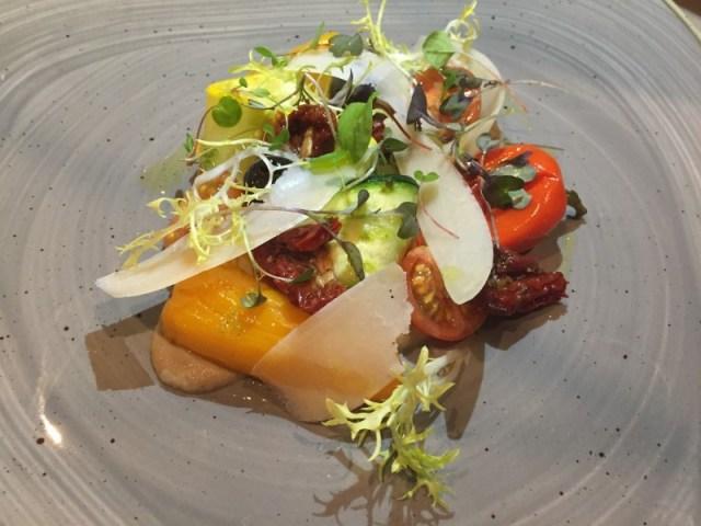Mediterranean veg starter at Waters Restaurant