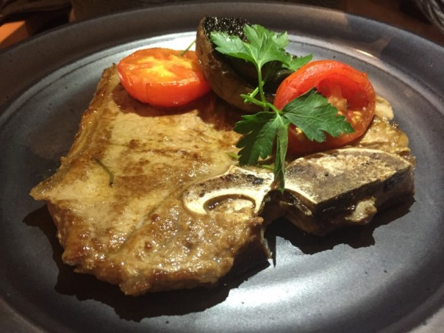T-bone steak at Waters Restaurant