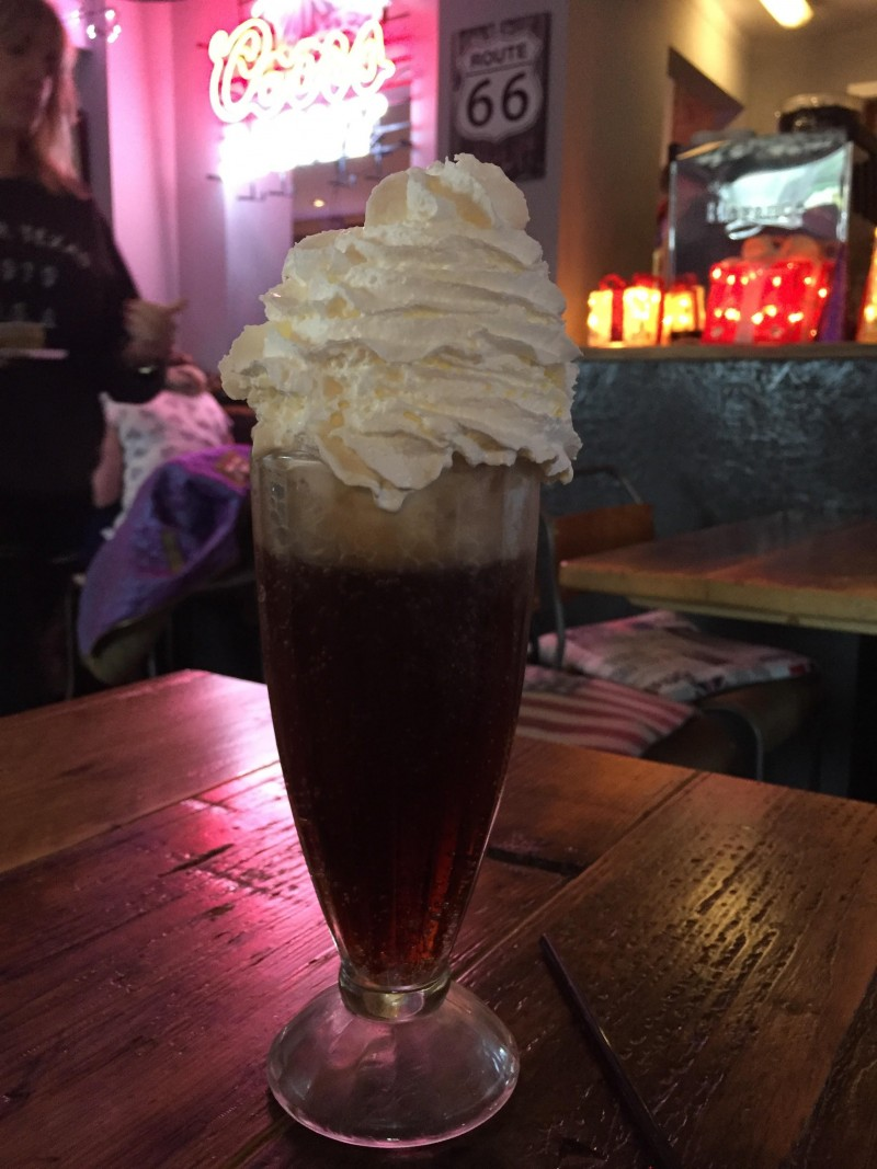 Coke float at Smoke Stop, Shropshire
