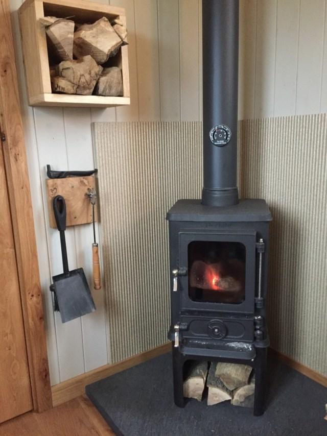 The hobbit stove in the shepherds hut