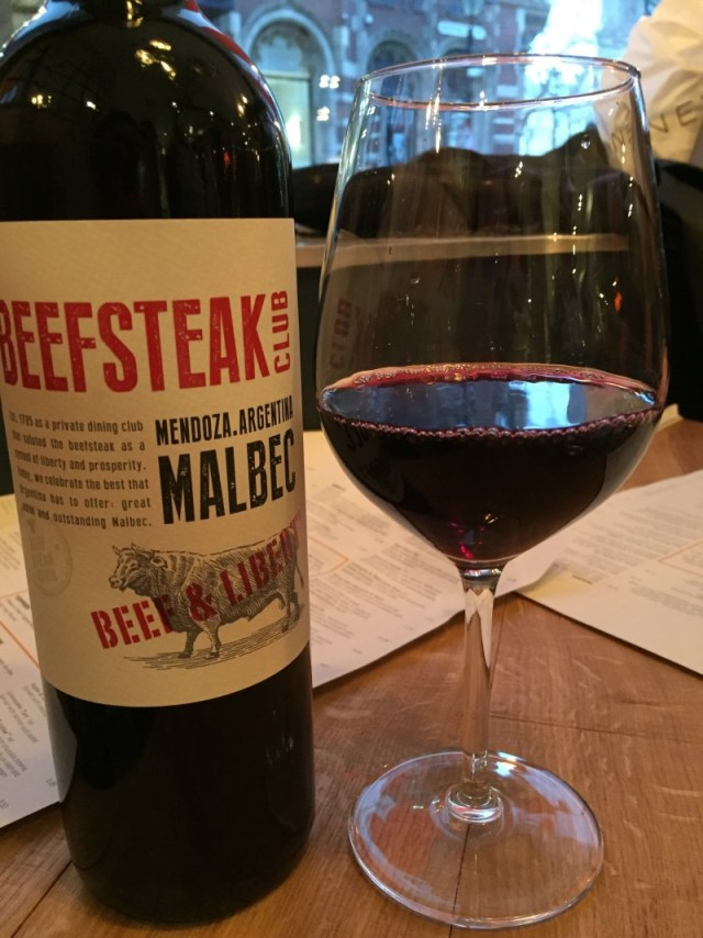 Wine at Beefeater Bar + Block