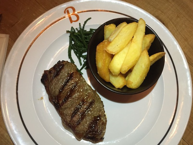 Steak at Beefeater Bar + Block