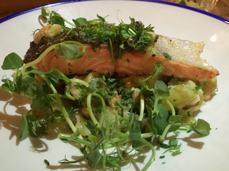 Sea trout at The Perch, Oxford