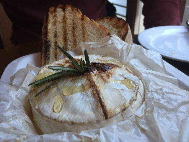 Baked camembert at Cafe Vin Cinq, Rugby