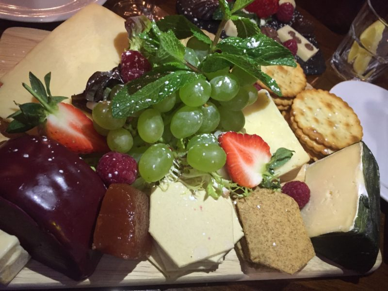 Cheese board at Cafe Vin Cinq, Rugby