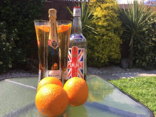 Pimm's Royale on a sunny day
