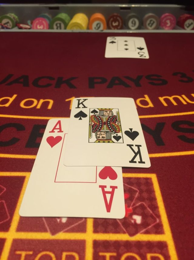 Learning blackjack at the Grosvenor Casino, Birmingham