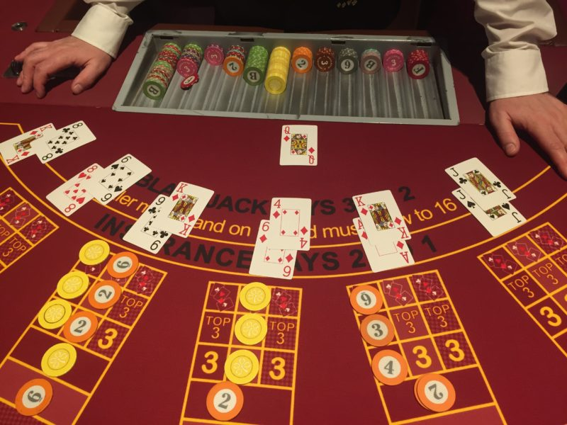 Learning blackjack at the Grosvenor Casino, Birmingham