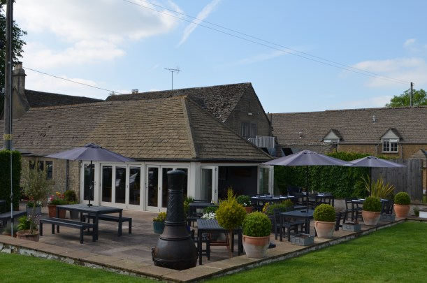 The restaurant at the Ragged Cot, Minchinhampton