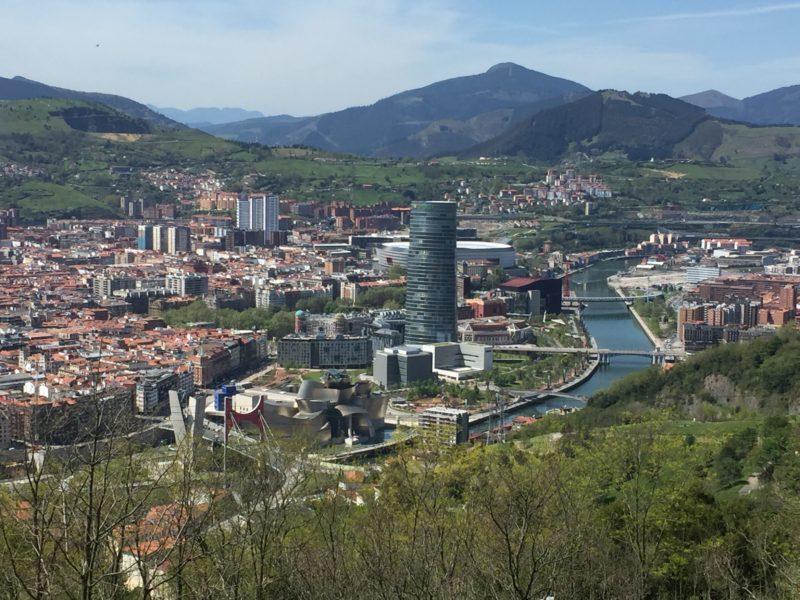 View of Bilbao from Artxanda Mountain