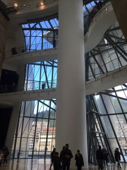 Inside the Guggenheim, Bilbao