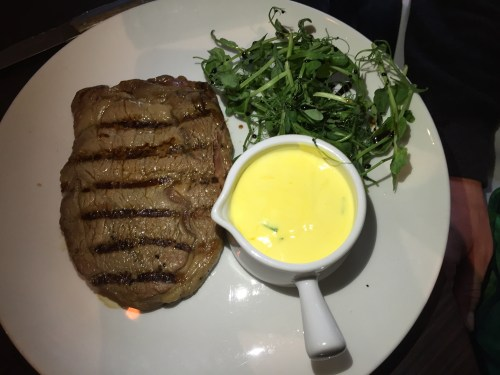 Steak at Queens Road Restaurant, Coventry
