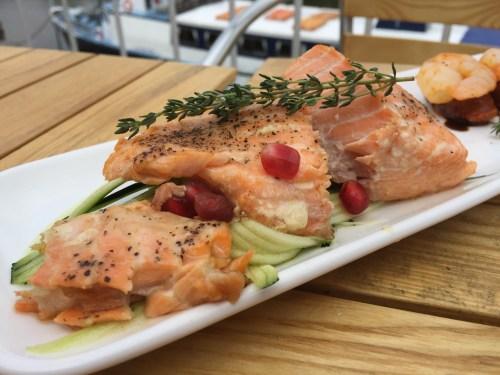 Salmon tapas at The Boathouse, Upton-upon-Severn