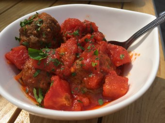 Homemade meatballs at The Boathouse, Upton