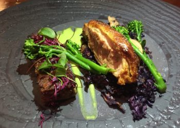 Duck main course at Lasan, Birmingham