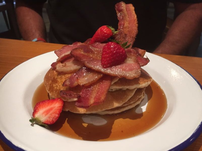 American pancakes at Saint Kitchen, Birmingham