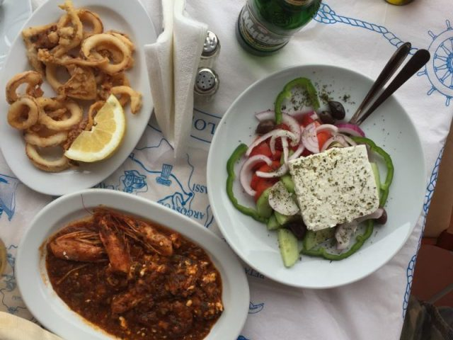 Lunch in Katelios, Kefalonia