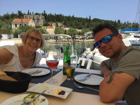 Lunch in Fiskardo, Kefalonia