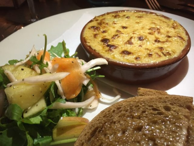 Devon crab gratin at The Almanack, Kenilworth
