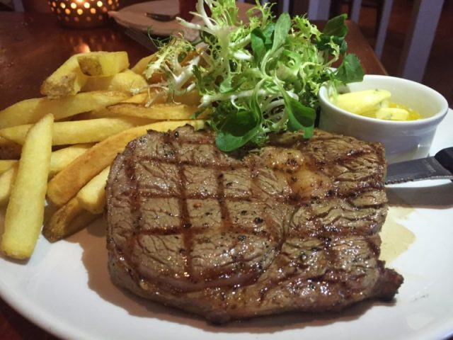 8oz ribeye steak at the White Horse, Balsall Common