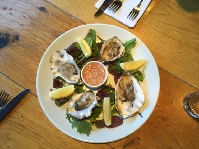 Oysters at the Glassboat, Bristol
