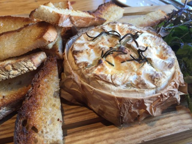 Baked camembert at the Glassboat, Bristol