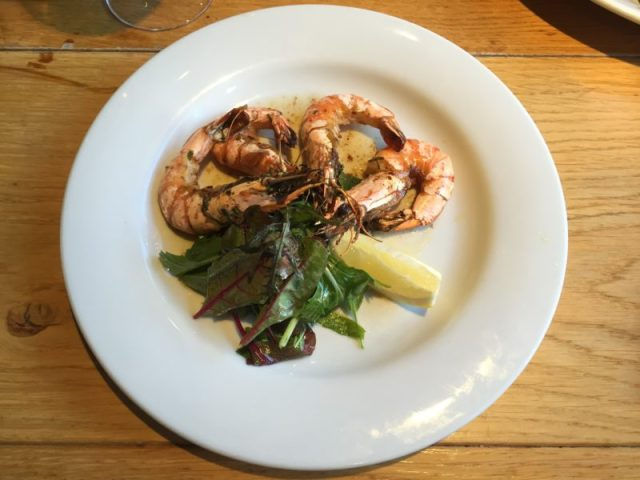 Prawns at the Glassboat, Bristol