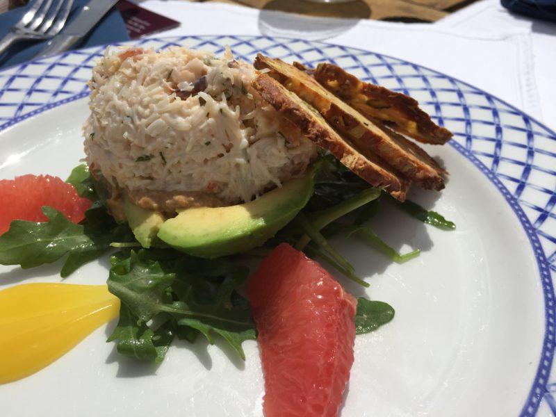 Portloe Crab Salad at the Nare Hotel, Roseland, Cornwall