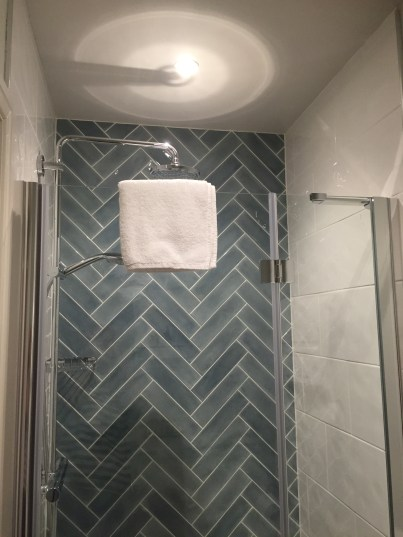 En suite shower at the High Field Town House