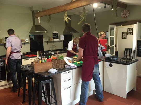 Cooking at Mousley House Farm Cookery School