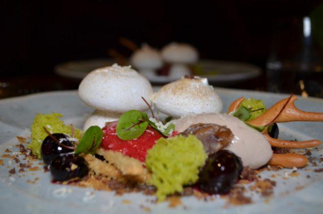 Meringue, chestnut and truffle at The Cross, Kenilworths Mushroom Dinner