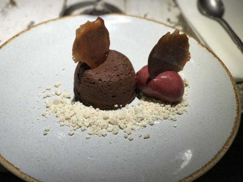 Chocolate fondant at Mill Street Pub and Kitchen, Oakham