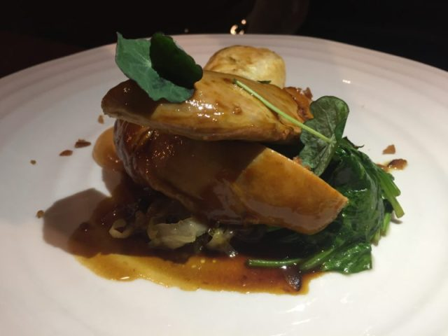 Pheasant main course at the White Swan, Shawell