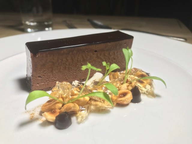 Dark chocolate delice at The Gallivant, Camber