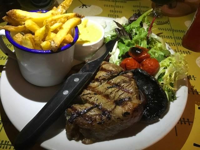 Steak at The Ship Inn, Rye