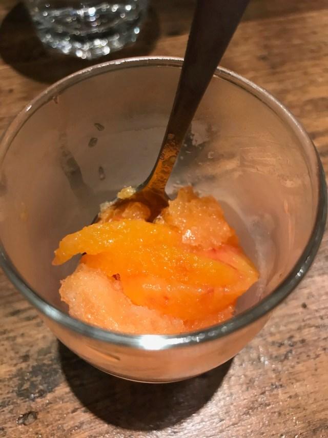blood orange and pernod granita at The Tuning Fork, Houlton, Rugby