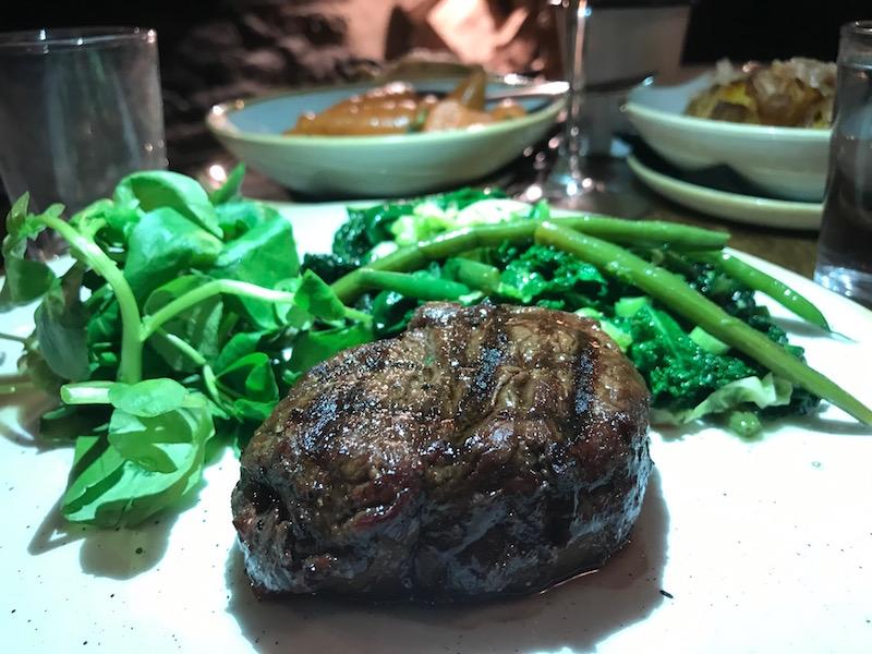 Fillet steak at the Woodstock Arms, Woodstock