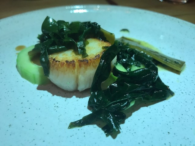 Roast hand-dived scallop at Salt, Stratford-upon-Avon