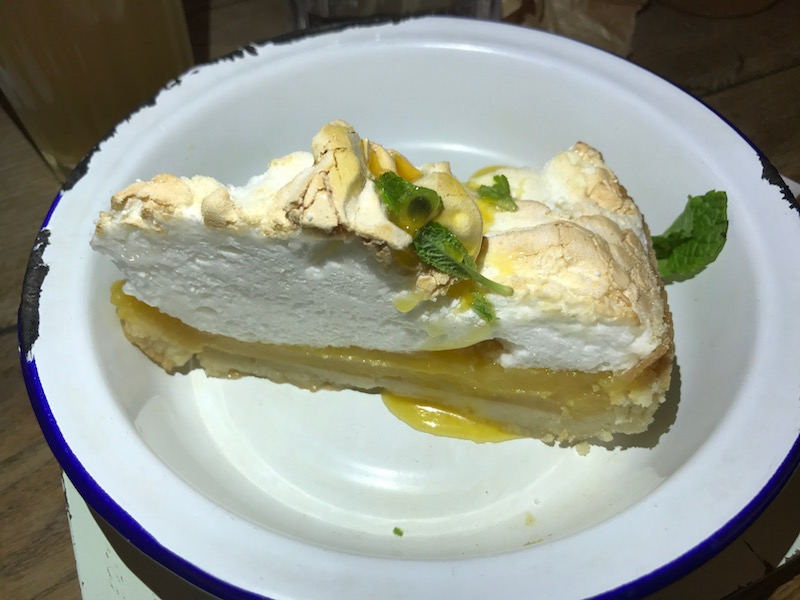 Passion fruit pie at Turtle Bay, Leamington Spa