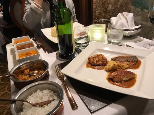 Dinner at Atul Kochar's Sindhu on P&O's Oriana