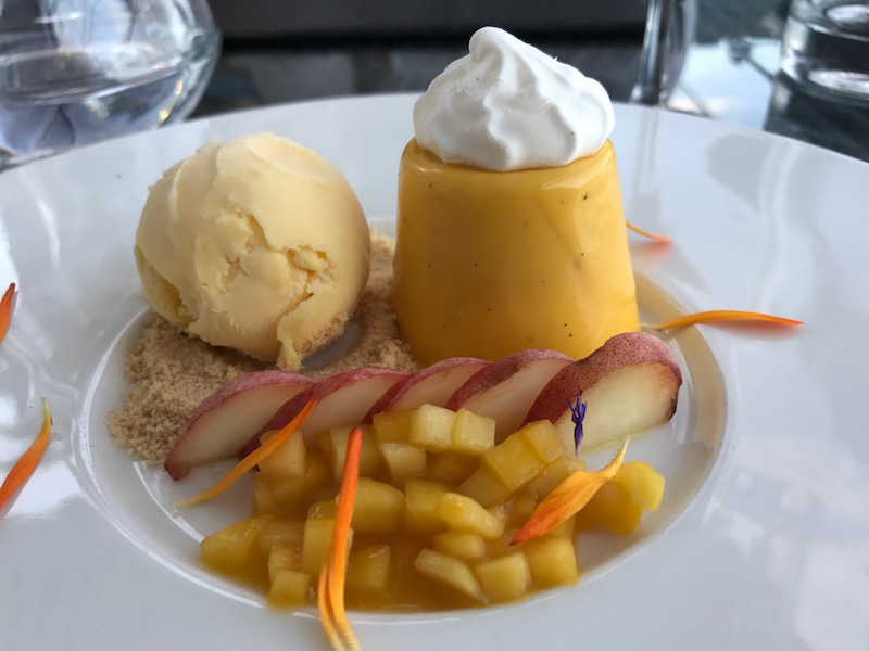 Mango cream at the South Sands Hotel, Salcombe