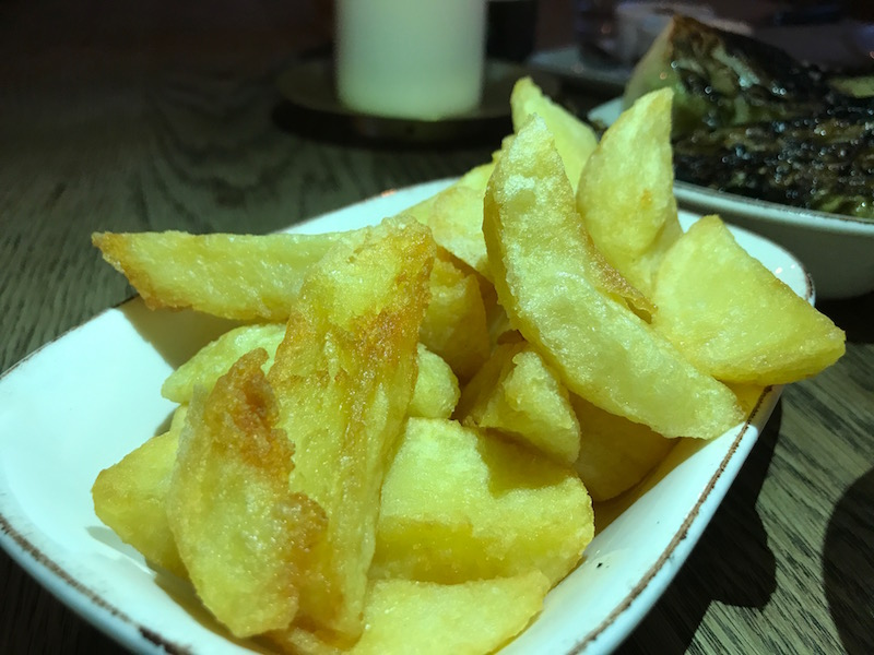 Duck fat chips at The Mash Inn, Radnage