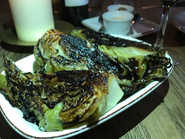 Hispi cabbage with tallow at The Mash Inn, Radnage