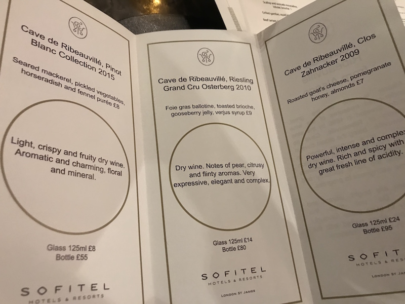 Sofitel Wine Days at The Balcon, London